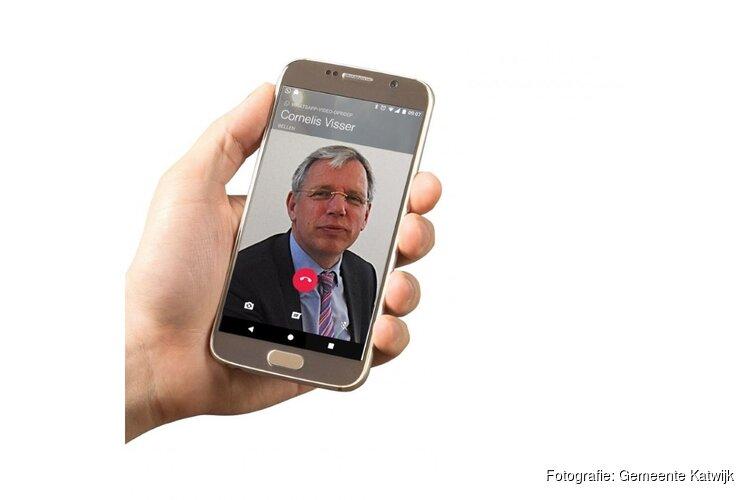 Videobellen met burgemeester Cornelis Visser
